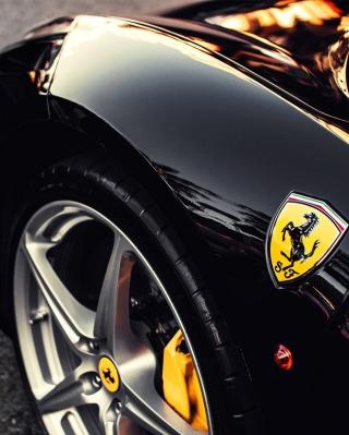Black Ferrari With Yellow Emblem for 480x854