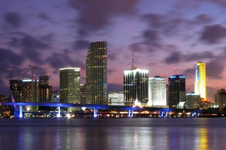 Miami Skyline Dusk