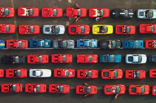 Ferrari Supercars From Above