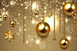 Golden Christmas Balls para Motorola RAZR XT910