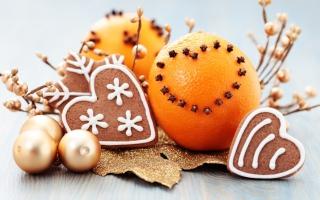 Orange Cookie Heart