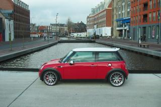Red Mini Cooper Holland