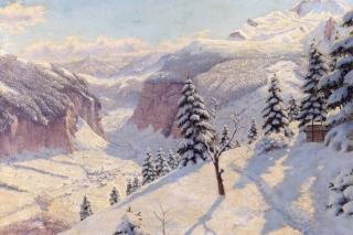 Beautiful Winter In Boris Bessonov Painting