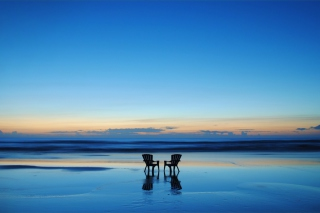 Beach Chairs For Couple At Sunset