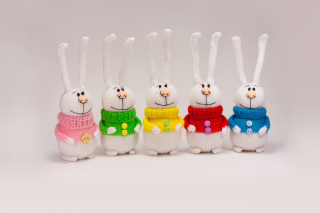 Funny Knitted Bunnies