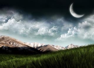 3D Moon Landscape Photography para LG E400 Optimus L3