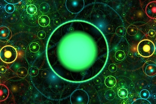 3D Green Circles para Motorola RAZR XT910