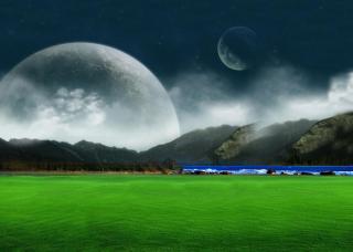 Moon Landscape para LG E400 Optimus L3