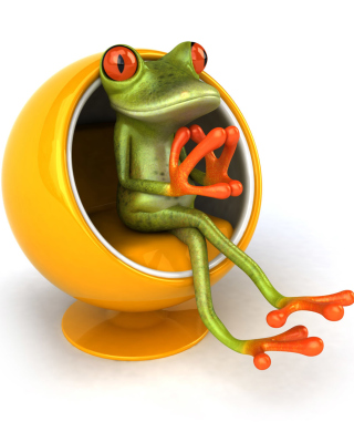 3D Frog On Yellow Chair para Huawei G7010