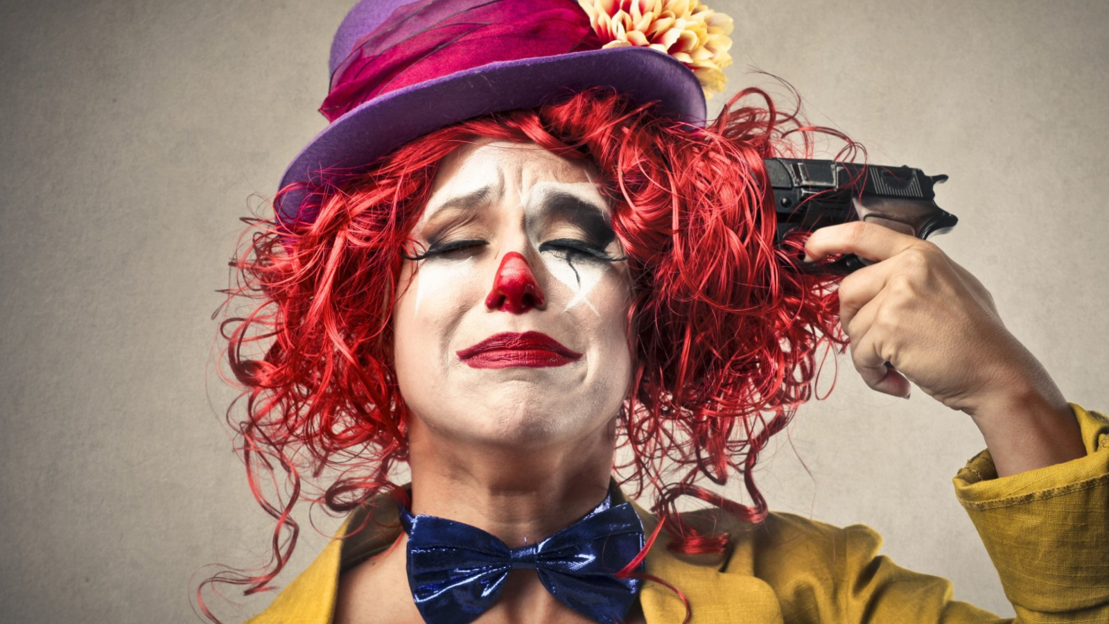 sad clown face image picture code