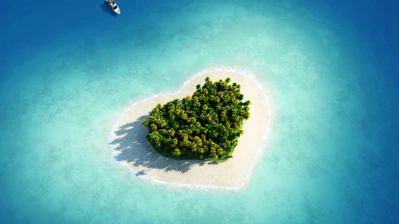 Скриншот №1 для темы Heart Shaped Tropical Island