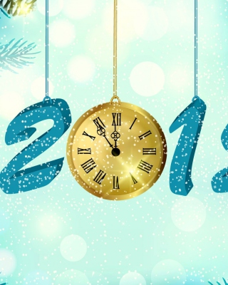 Happy New Year 2015 with Clock para Blackberry RIM Torch 9800