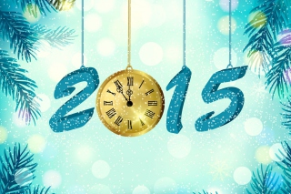 Happy New Year 2015 with Clock