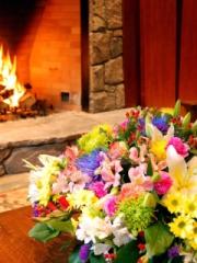 Bouquet Near Fireplace for Nokia Asha 303