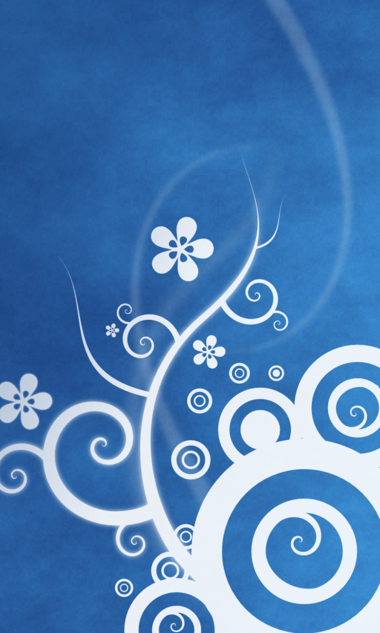 White Blue Abstraction Mobile Wallpaper for 768x1280 at VividScreen