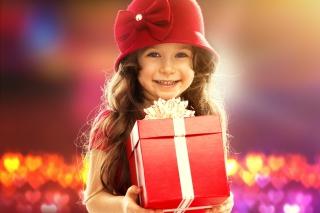 Happy Child With Present