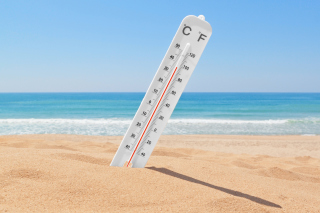 Thermometer on Beach