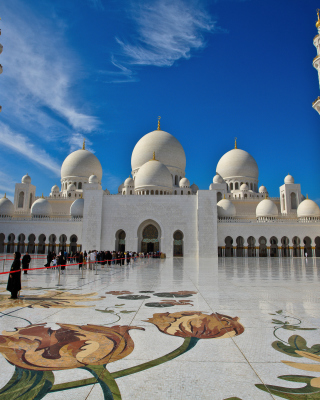 Sheikh Zayed Mosque located in Abu Dhabi for Nokia N8