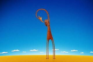 Funny Giraffe With Friend
