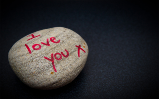 I Love You Written On Stone