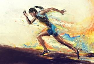 Running Woman Painting