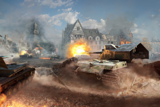 World of tanks, Waffentrager auf E 100 para Nokia Asha 201
