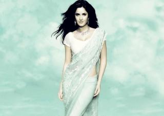 Katrina Kaif In Saree para Sony Ericsson XPERIA PLAY
