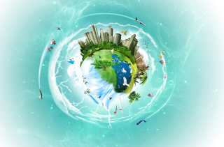 Planet Earth Fantasy para Nokia Asha 201