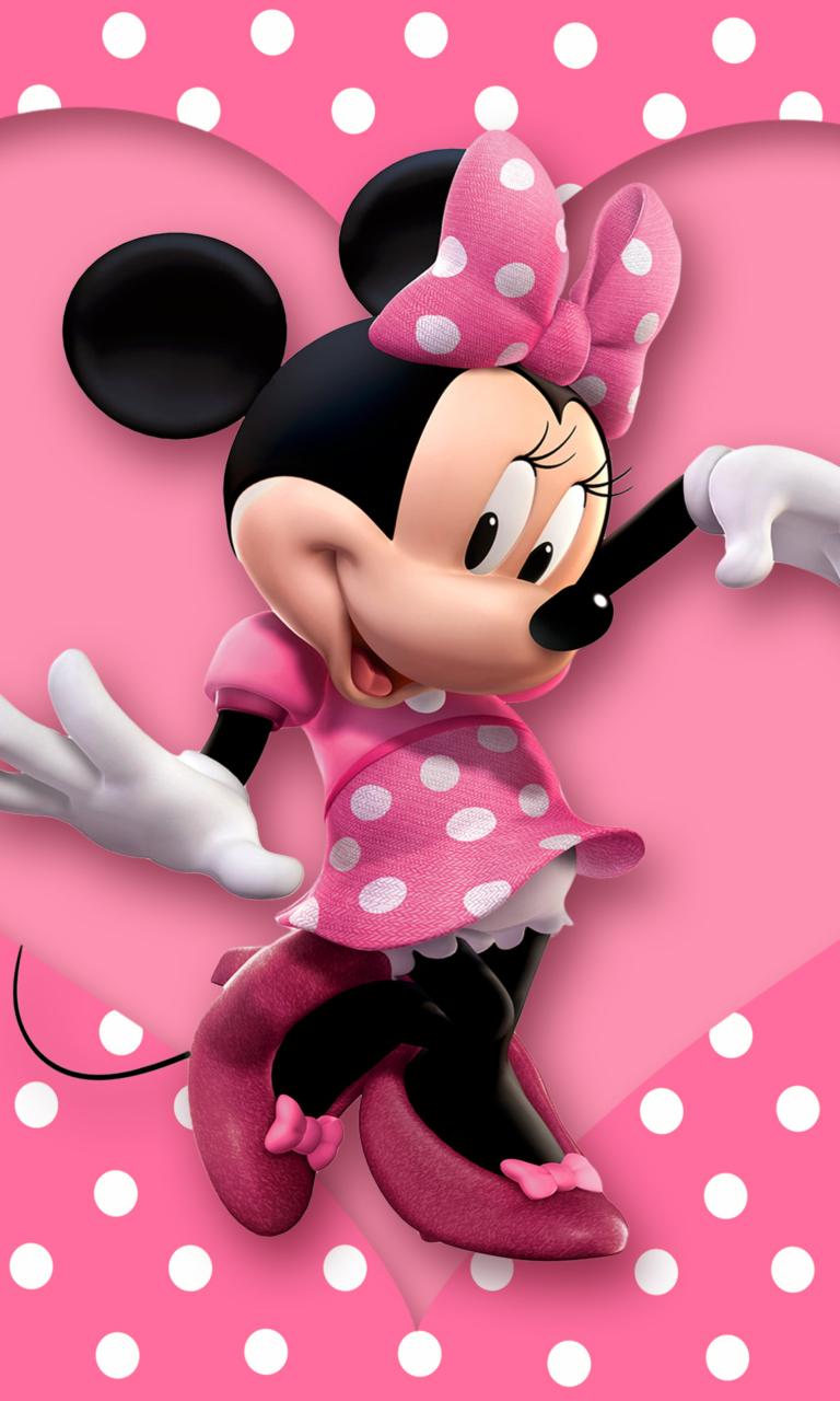 Fondo minnie mouse con flores imagui - Fondos de minnie mouse ...