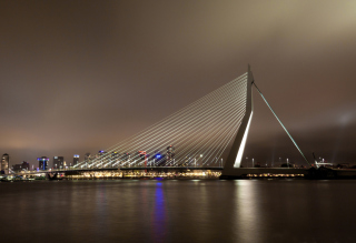 Erasmus Bridge Rotterdam para Widescreen Desktop PC 1920x1080 Full HD