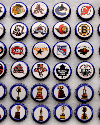 Bottle caps with NHL Teams Logo para Blackberry RIM Torch 9800