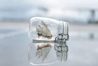 Toy Ship In Bottle