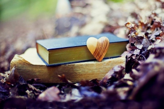 Yellow Heart And Vintage Books
