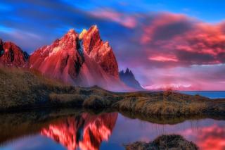 Beautiful Red Sunset Landscape para Motorola RAZR XT910
