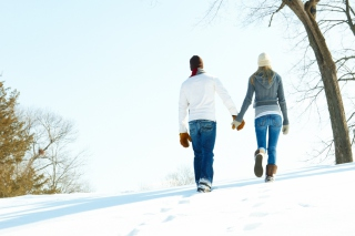 Romantic Walk Through The Snow