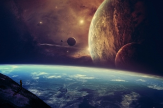 Planets In Open Space