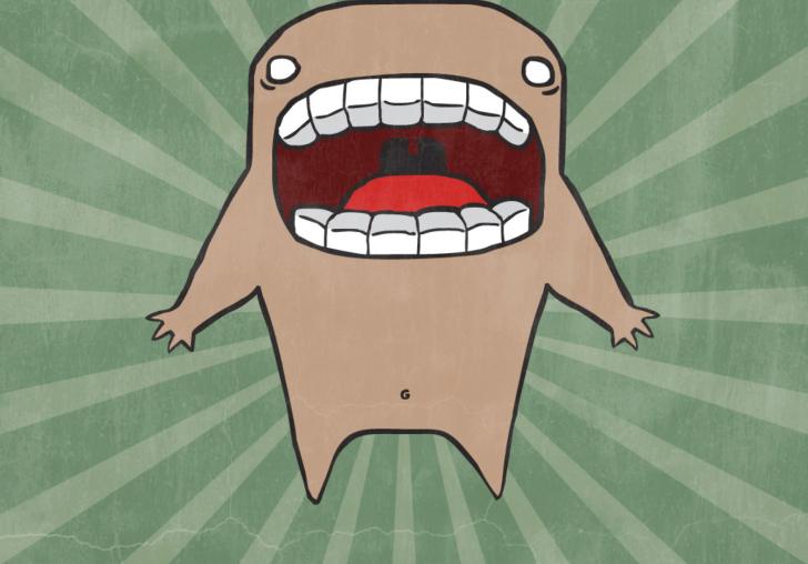 Screaming Monster wallpaper