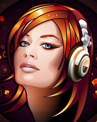 Headphones Girl Illustration for 480x854