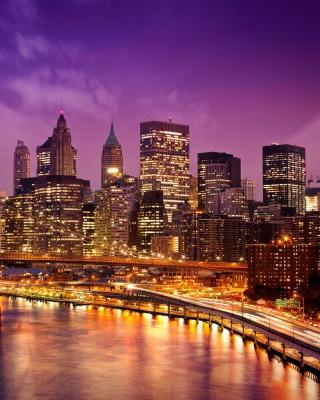 Purple Night City for Nokia Asha 303
