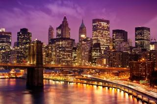 Purple Night City para Blackberry RIM Curve 9360