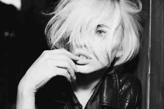 Beautiful Blonde Black And White Portrait