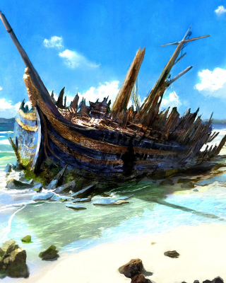 Shipwreck para Blackberry RIM Torch 9800