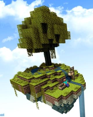 Minecraft Island Texture per Nokia Asha 306