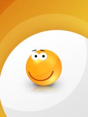 Orange Friendship Smiley for Nokia Asha 303