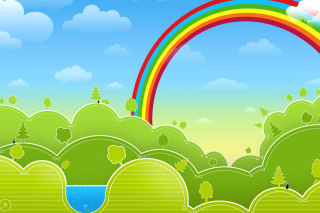 Rainbow And Woods