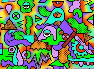 Crazy Neon Heads