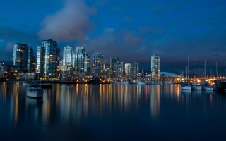 Vancouver Night para Widescreen Desktop PC 1920x1080 Full HD