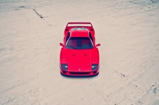 Red Ferrari F40 Top Angle
