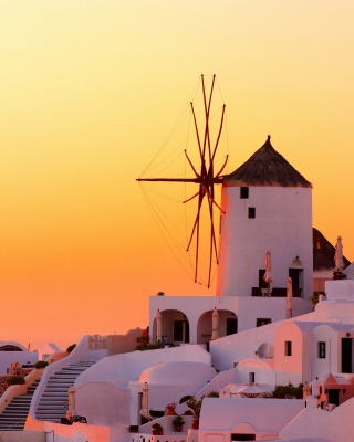 Greece Oia City on Santorini per Nokia Lumia 800