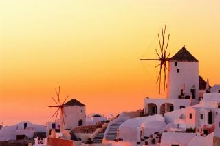 Greece Oia City on Santorini para Motorola RAZR XT910